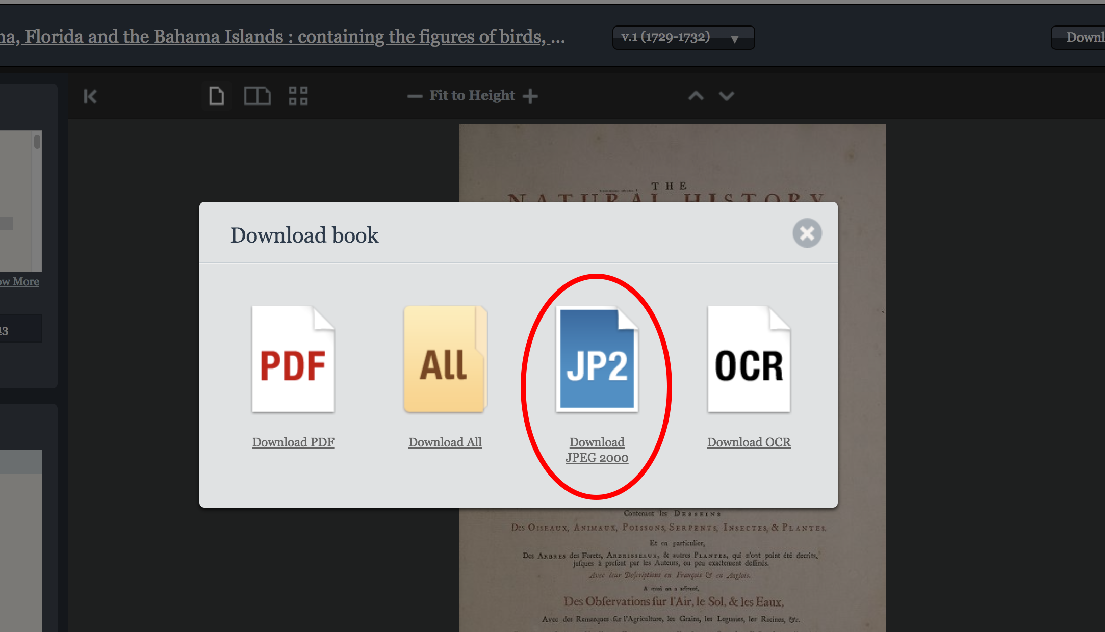 jp2 download option in book viewer