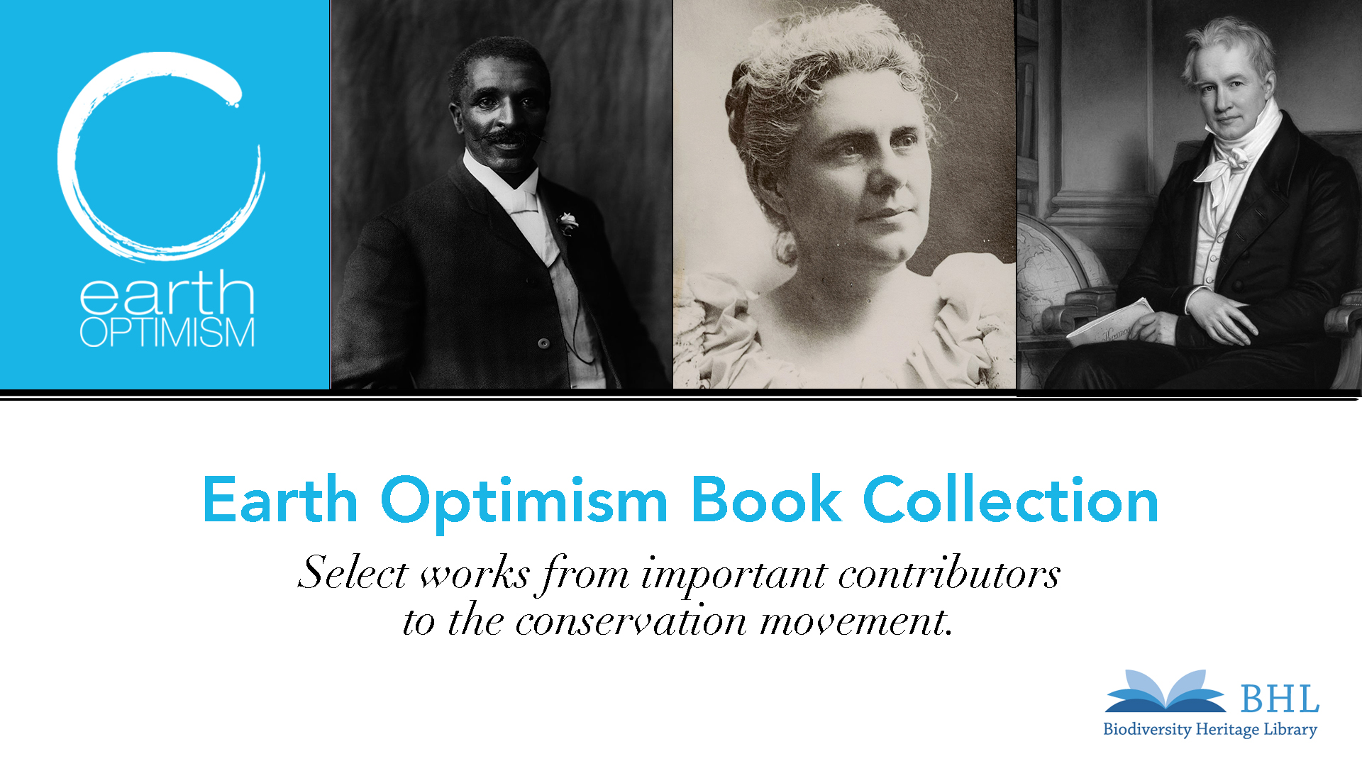 graphic for the Earth Optimism book collection